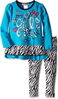 Young Hearts Little Girls' 2 Piece Cute Pullover and Legging Set