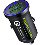 Metal Car Charger by MONGOORA - Qualcomm Quick Charge 3.0 Dual USB 6A/36W Fast Car Charger Adapter - Two Ports QC 3.0 3A…