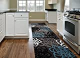 Rugshop Contemporary Modern Floral Flowers Area Rug