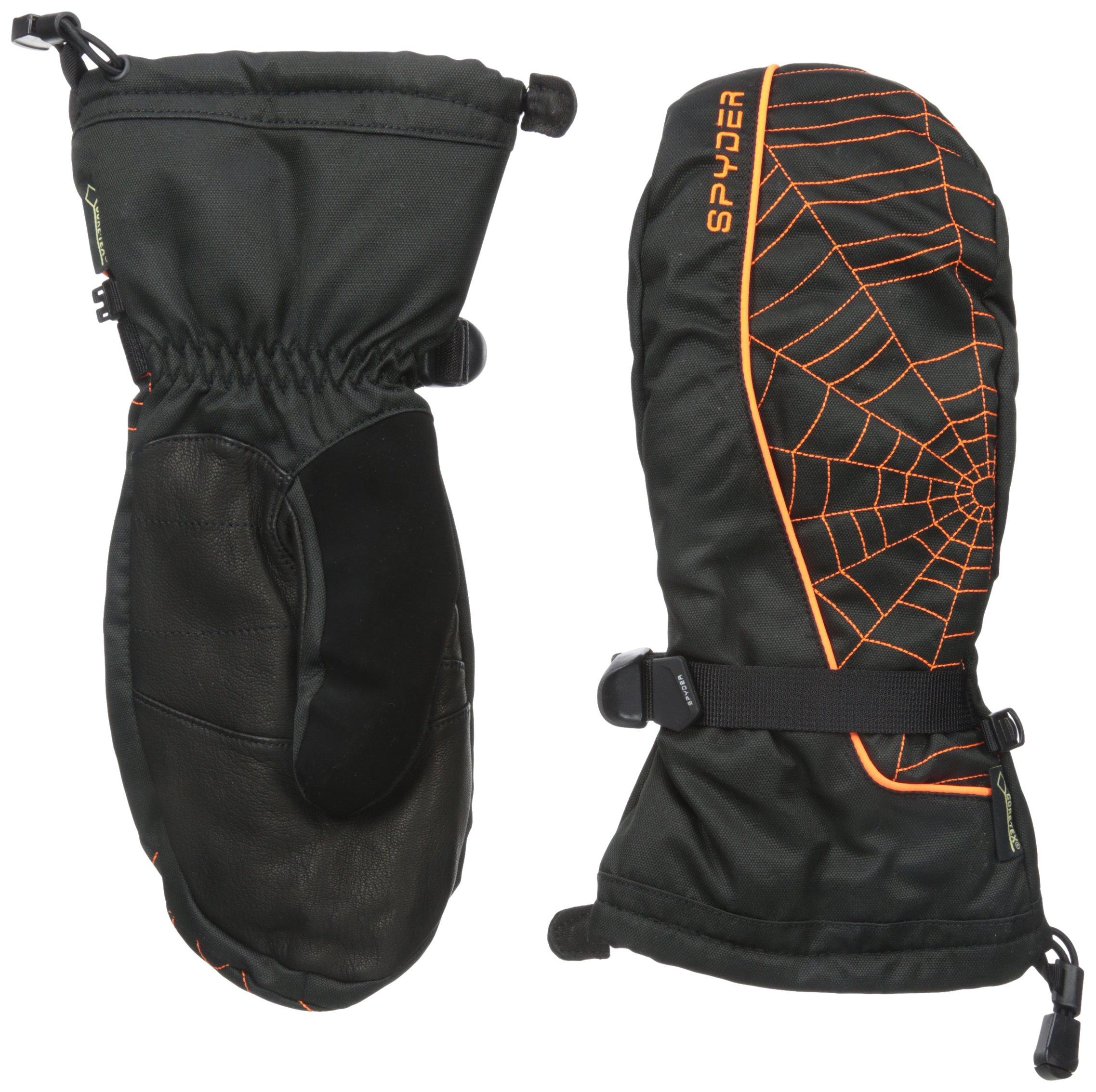 Spyder Men's Overweb Glove, Black/Bryte Orange, Large