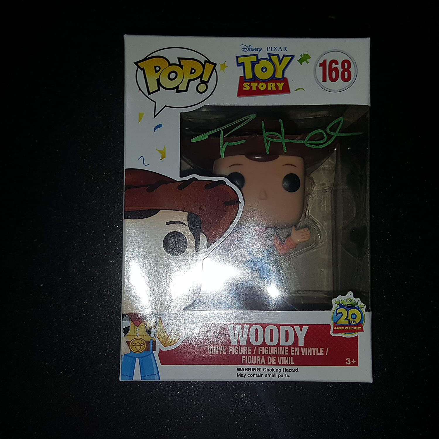 TOM HANKS - Autographed Signed WOODY FUNKO POP 168 figure - Toy Story 3 COA proof