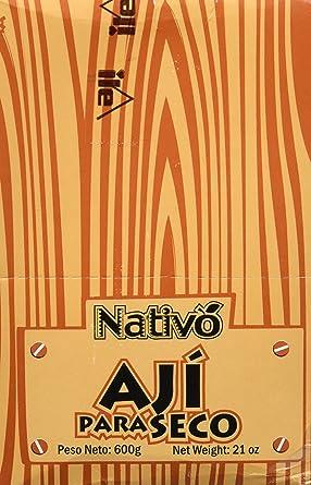 Nativo Ají Para Seco - Paquete de 12 x 50 gr - Total: 600 gr
