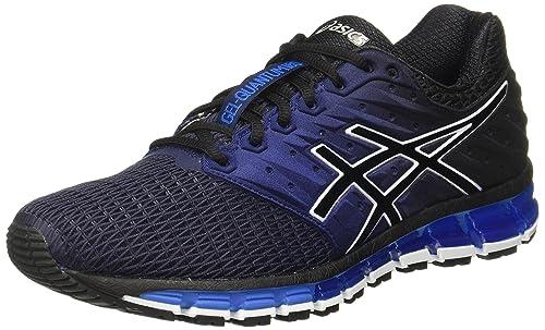 best website dbb8a 0e7f1 ASICS Men s Gel-Quantum 180 2 Peacoat Black Directoire Blue Running Shoes -