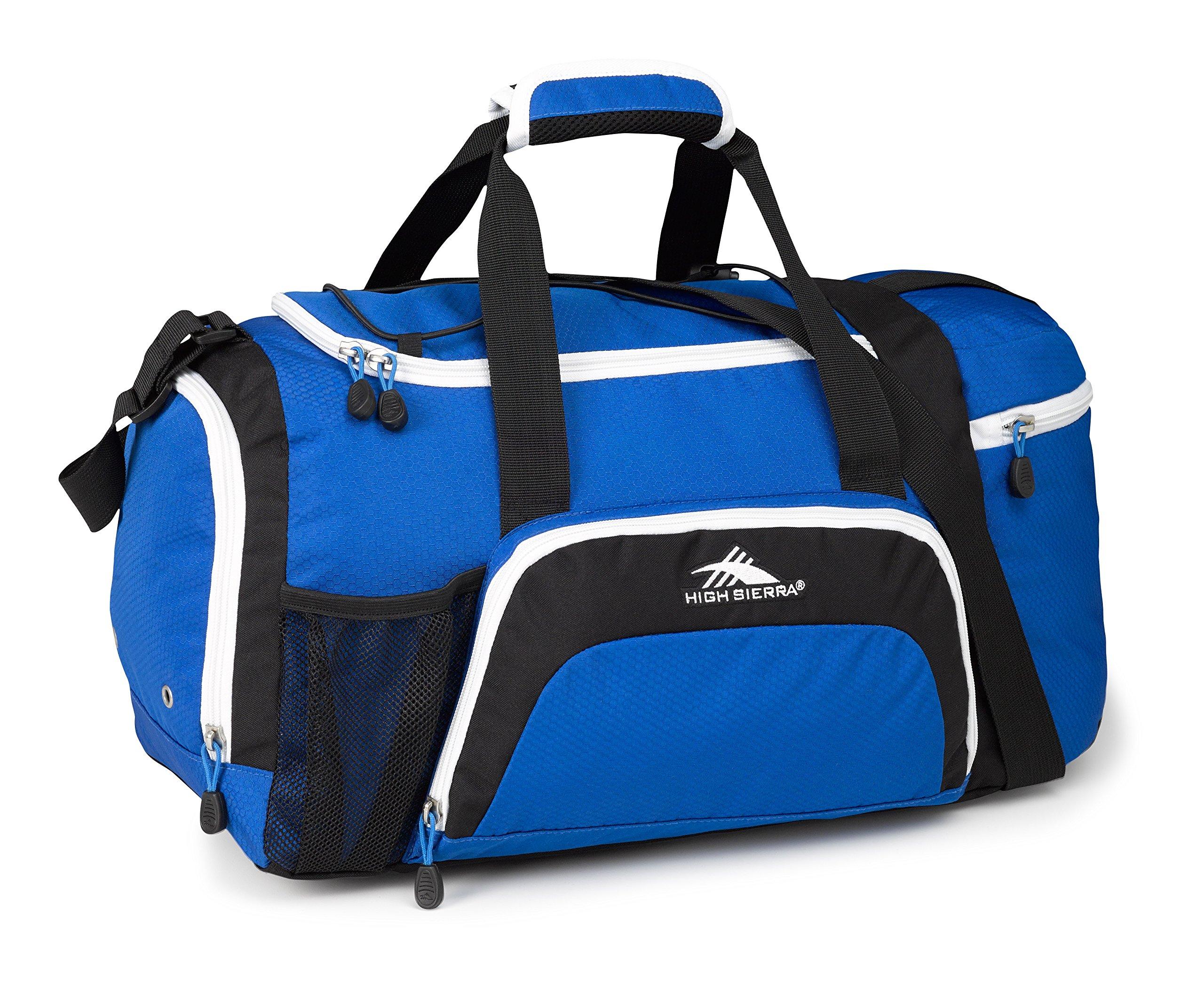 High Sierra Crossport 2 Ringleader Duffel Bag, Vivid Blue/Black/White