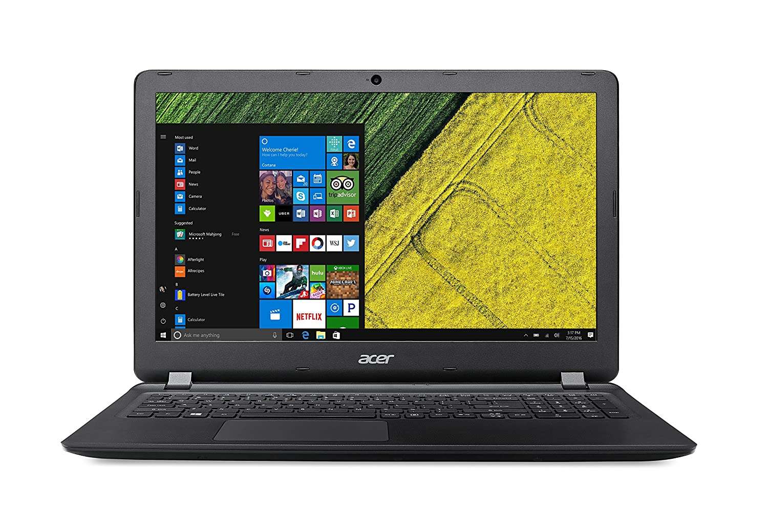 Acer Aspire ES1-523-67XS Notebook, Display da 15.6 HD LED, Processore Quad-Core A6-7310, RAM da 8 GB DDR3, 500 GB HDD, Scheda Grafica Integrata AMD Radeon R4, Nero