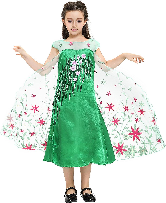 UK Seller Kids Girls Frozen fever Anna Elsa Fancy dress Princess Party Dress