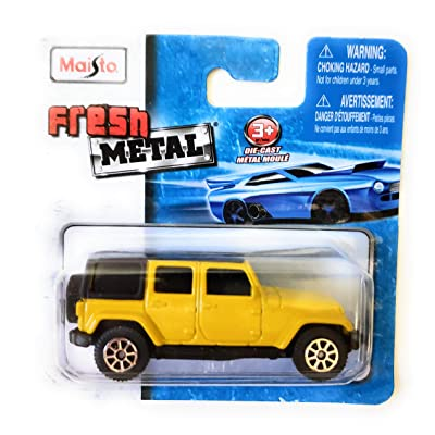 Fresh Metal Maisto 2015 Jeep Wrangler Unlimited 1:64: Toys & Games