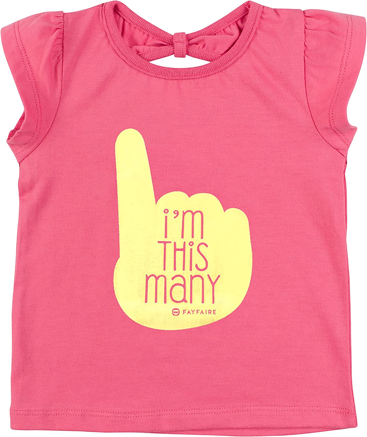 Fayfaire First Birthday Outfit Girl   1st Bday Gift Shirt & Tutu I'm This Many 12M-18M