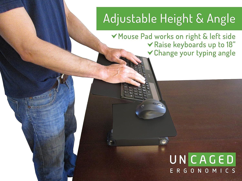 Uncaged Ergonomics Workez Keyboard Tray Amp Mouse Pad
