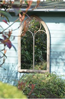 Large Outdoor Garden Mirror Rustic Gothic Design 3ft9 x 1ft 8