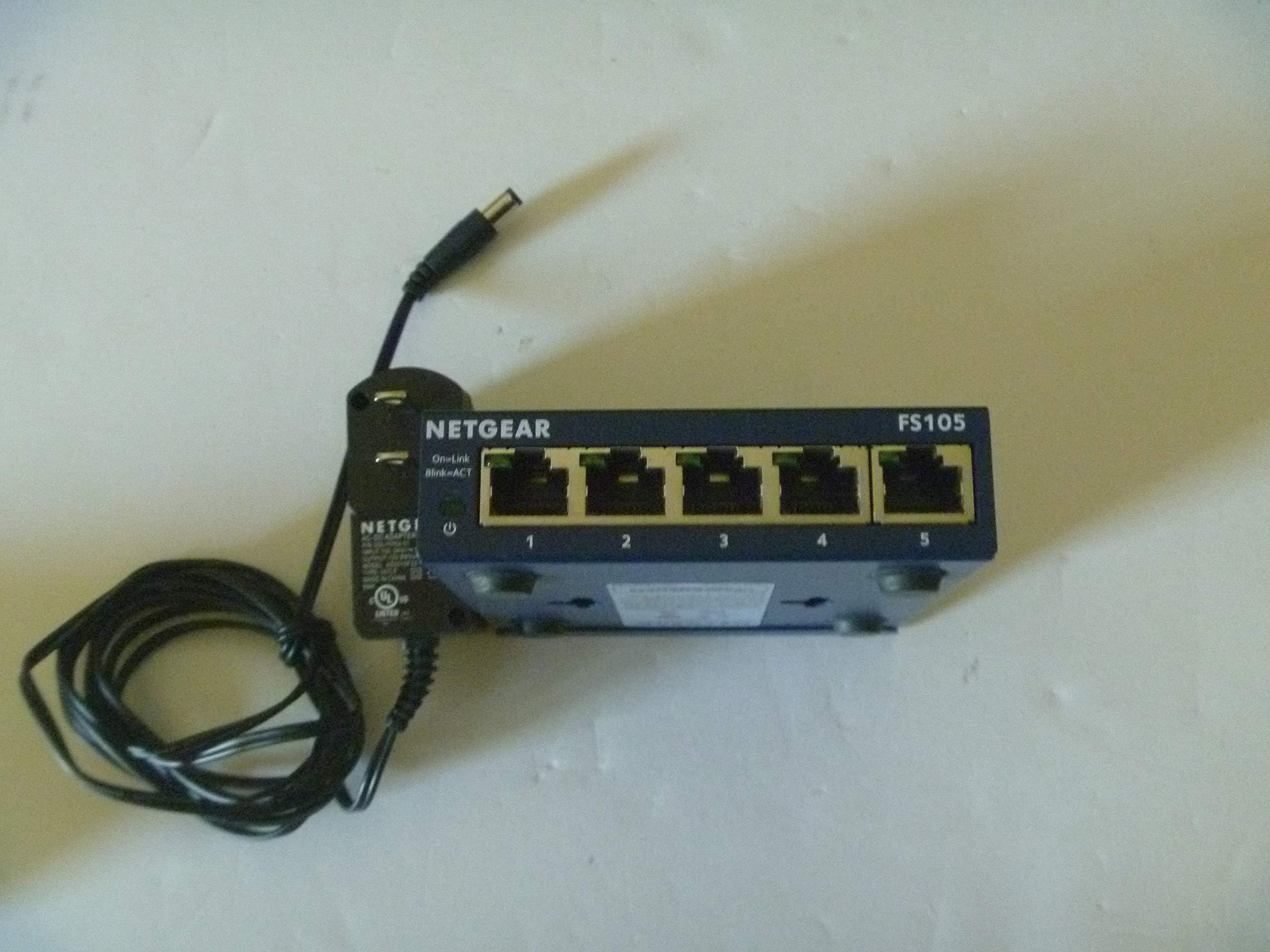 FS105NA - Netgear ProSafe FS105 Ethernet Switch 5 x 10/100Base-TX (FBA_FS105NA) by NETGEAR