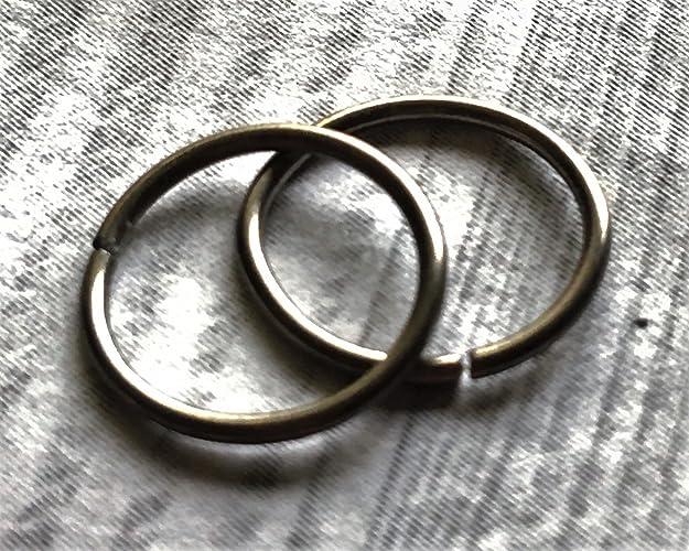 Amazoncom Set of 2 Niobium 20 Gauge Hoop Rings 6mm 12mm Handmade