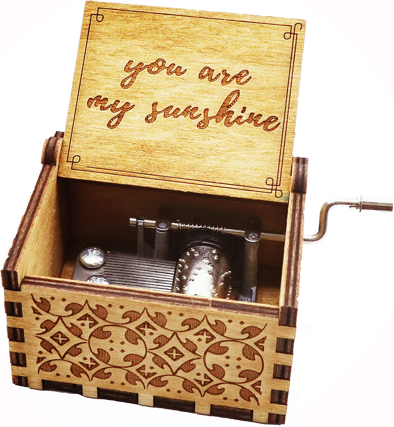 HOSALA Personalizable Imagine The Beatles Classical Music Box Handmade Laser Engraved Vintage Wooden Hand Crank Musical Box Gifts for Wedding//Birthday//Christmas//Valentines Day Imagine B07DVPQ13M