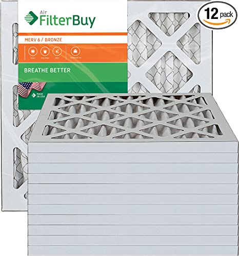 Nordic Pure 24x25x1 Exact MERV 12 Pleated AC Furnace Air Filters 6 Pack