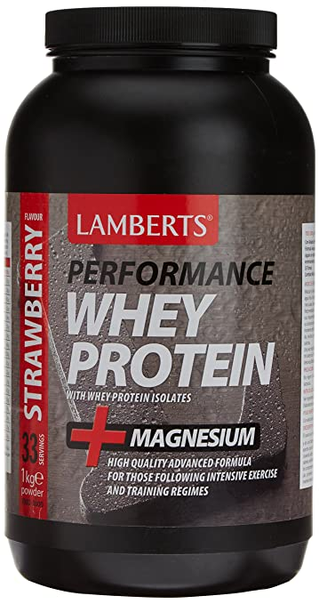 Lamberts Whey Protein Strawberry & Magnesium 1000g Powder