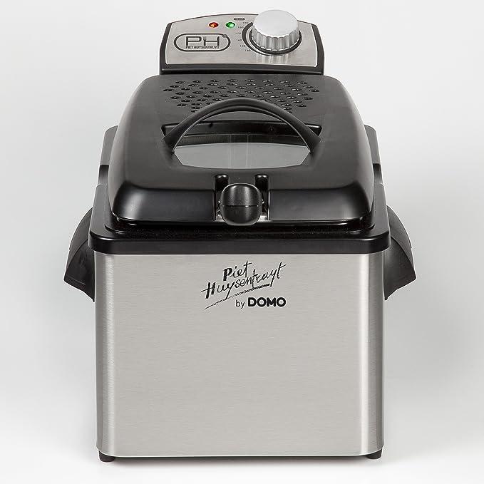 Domo DO454FR Solo 3.5L 3000W Negro, Acero inoxidable - Freidora (3,5 L, 3,5 L, Solo, Negro, Acero inoxidable, 3000 W, 220-240): Amazon.es: Hogar