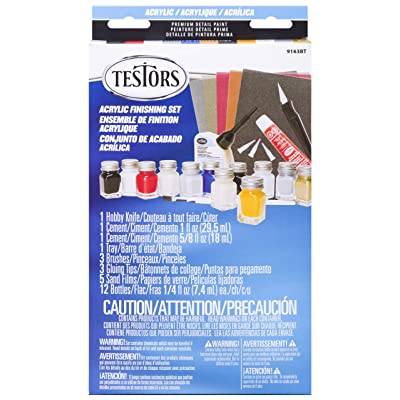 Testors 9163BT 9163BT-3 Acrylic Paint Finishing KIT, Multicolor: Arts, Crafts & Sewing