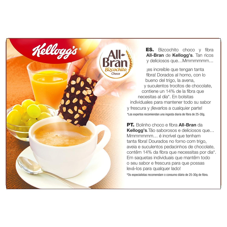 Kelloggs Barritas All Bran Bizcochito Chocolate - 2 Paquetes de 6 barritas - Total: 480 gr: Amazon.es: Alimentación y bebidas