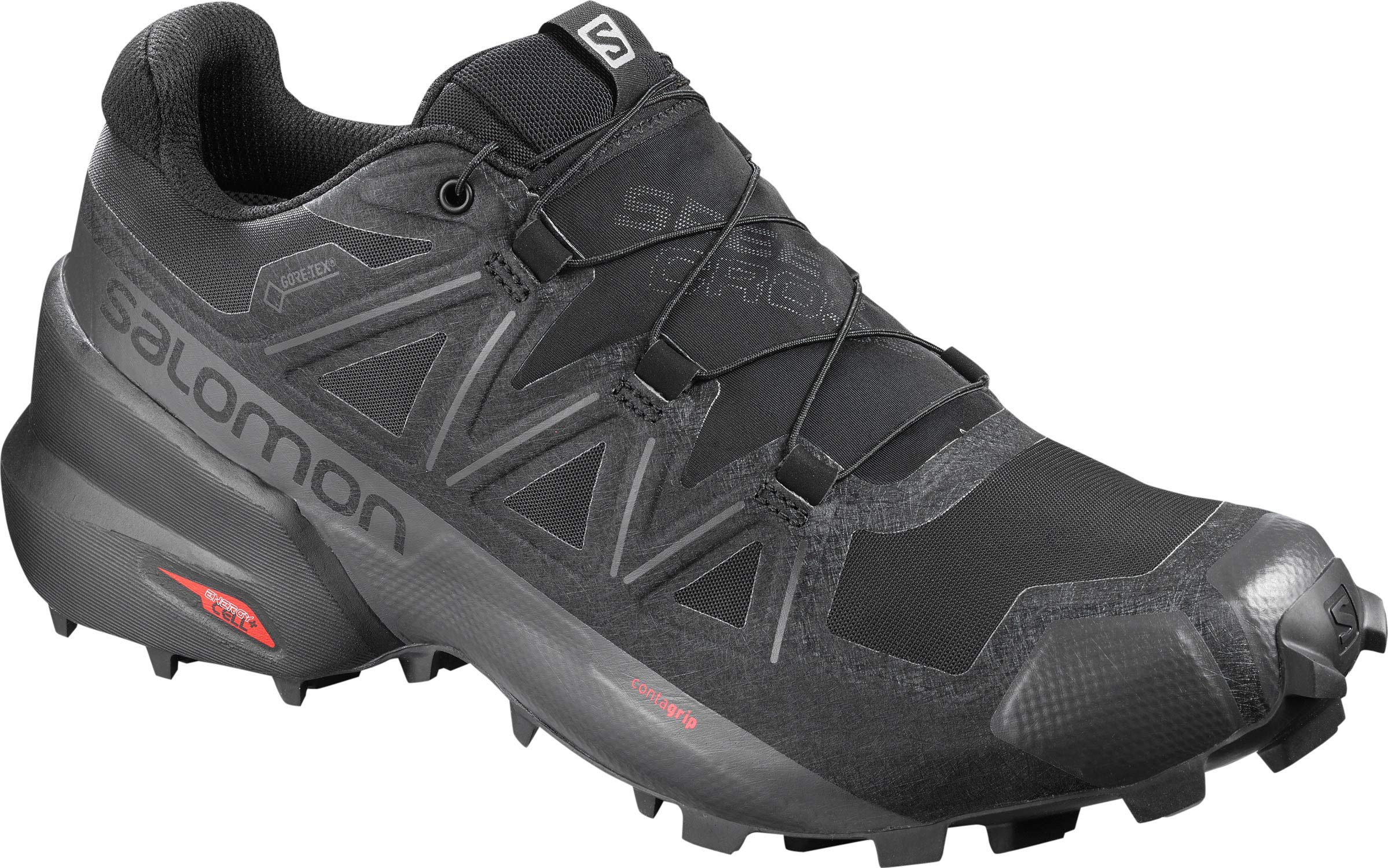 SALOMON SPEEDCROSS 5 GTX MEN'S TRAIL RUNNING SHOES BLACK/BLACK/PHANTOM SZ 11 by Salomon