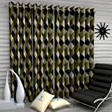 Fashion String 4 Pieces Door Curtain Set, 7 feet Long,Green