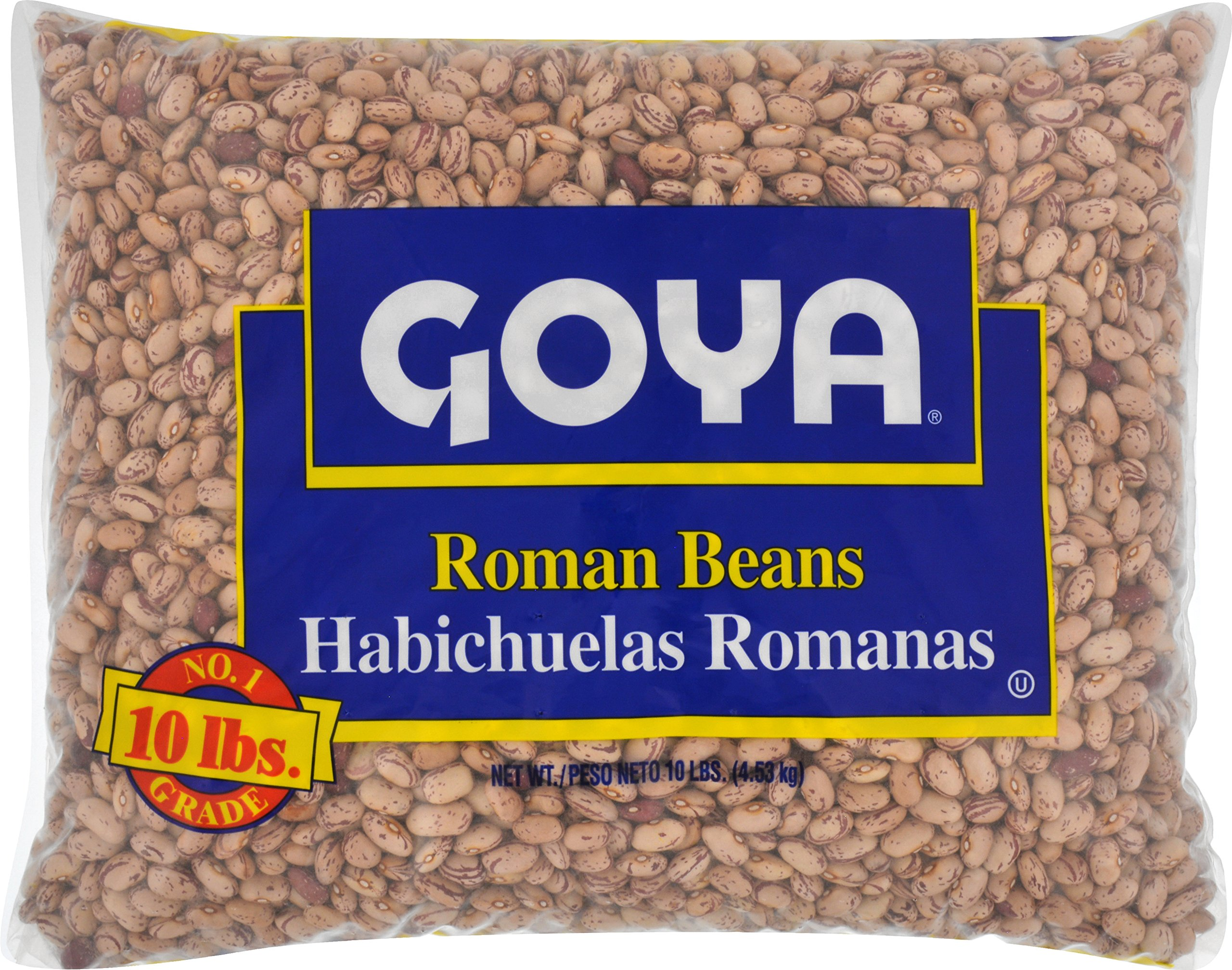 Goya Foods Dry Roman Beans, 10 Pound (pack of 4)