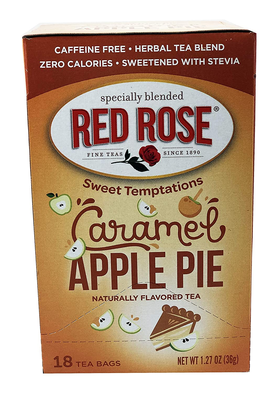 Red Rose Carmel Apple Pie Tea, (18 Count) 3 Packs