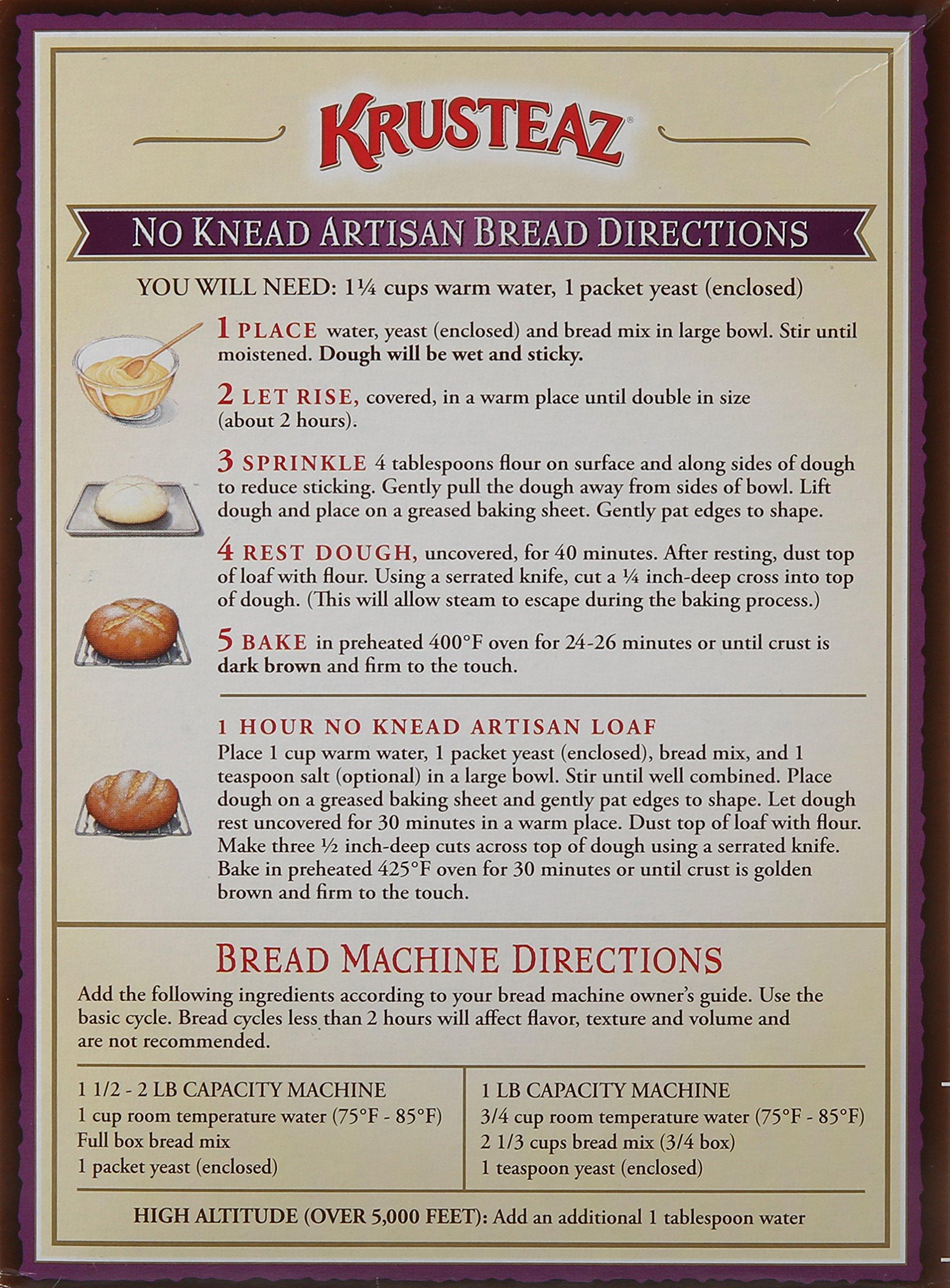 Krusteaz No Knead Hawaiian Sweet Artisan Bread Mix, 16-Ounces