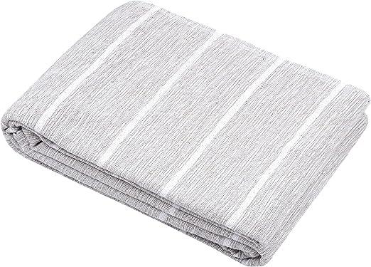 Stof - Manta para sofá, algodón, Color Gris Claro, 250 x 230 cm ...