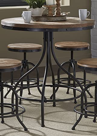 Amazon liberty furniture 179 pub3636 vintage dining series pub liberty furniture 179 pub3636 vintage dining series pub table distressed metal finish watchthetrailerfo
