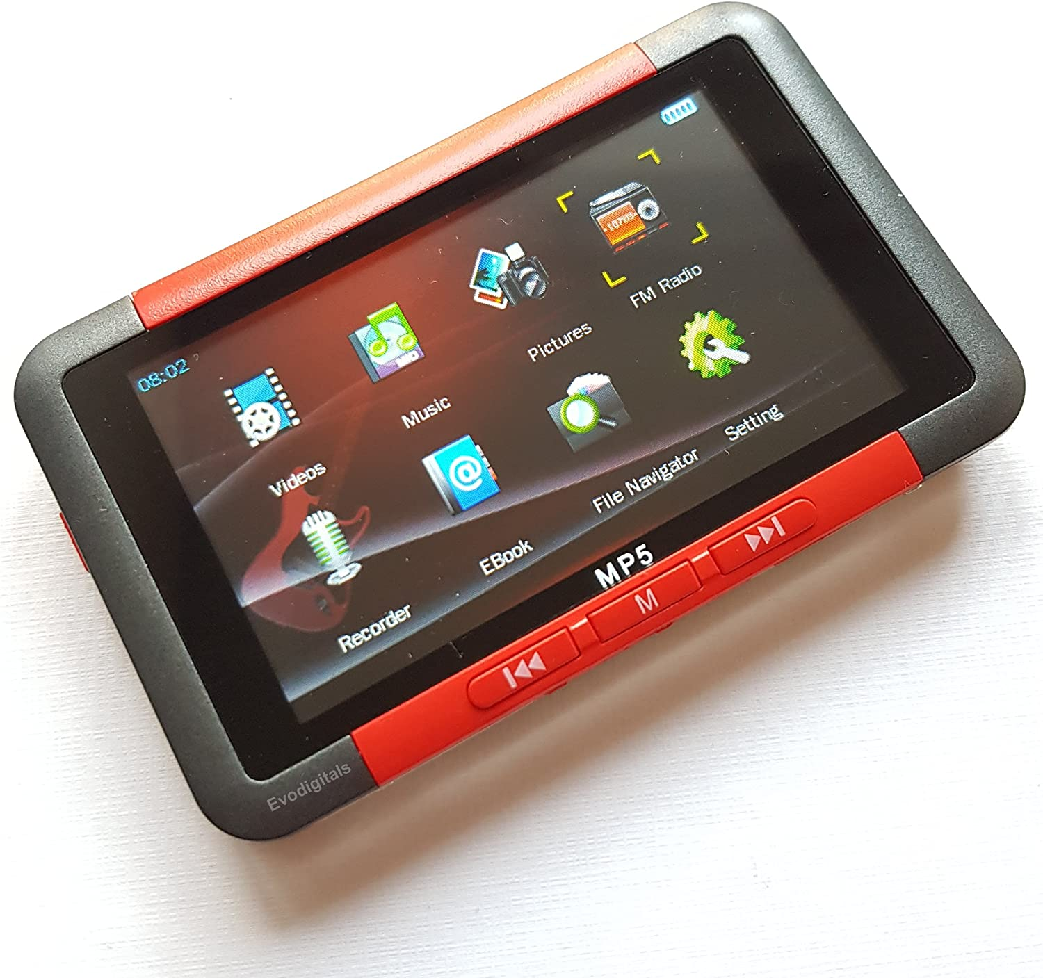 RED EVO 4GB MP3 WMA USB MUSIC PLAYER WITH LCD SCREEN FM RADIO VOICE RECORDER