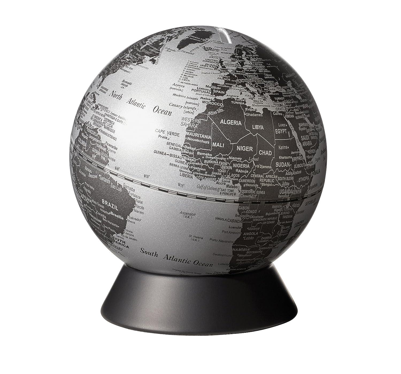 Emform Mini-Globus, Orion Matt Silber, Metall & Kunststoff, x 130 x Kunststoff, 150 mm 610543
