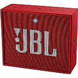 JBL Go JBLGORED Diffusore Bluetooth Portatile, Ricaricabile, Ingresso Aux-In, Vivavoce, Compatibilità Smartphone/Tablet e Dispositivo MP3, Rosso