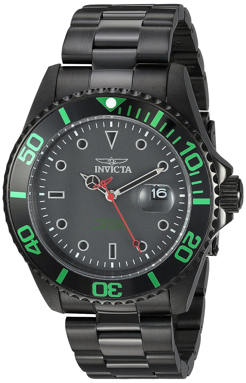 Invicta Men's 'pro Diver' Quartz Stainless Steel Diving Watch, Color:Black (Model: 23009) by Invicta