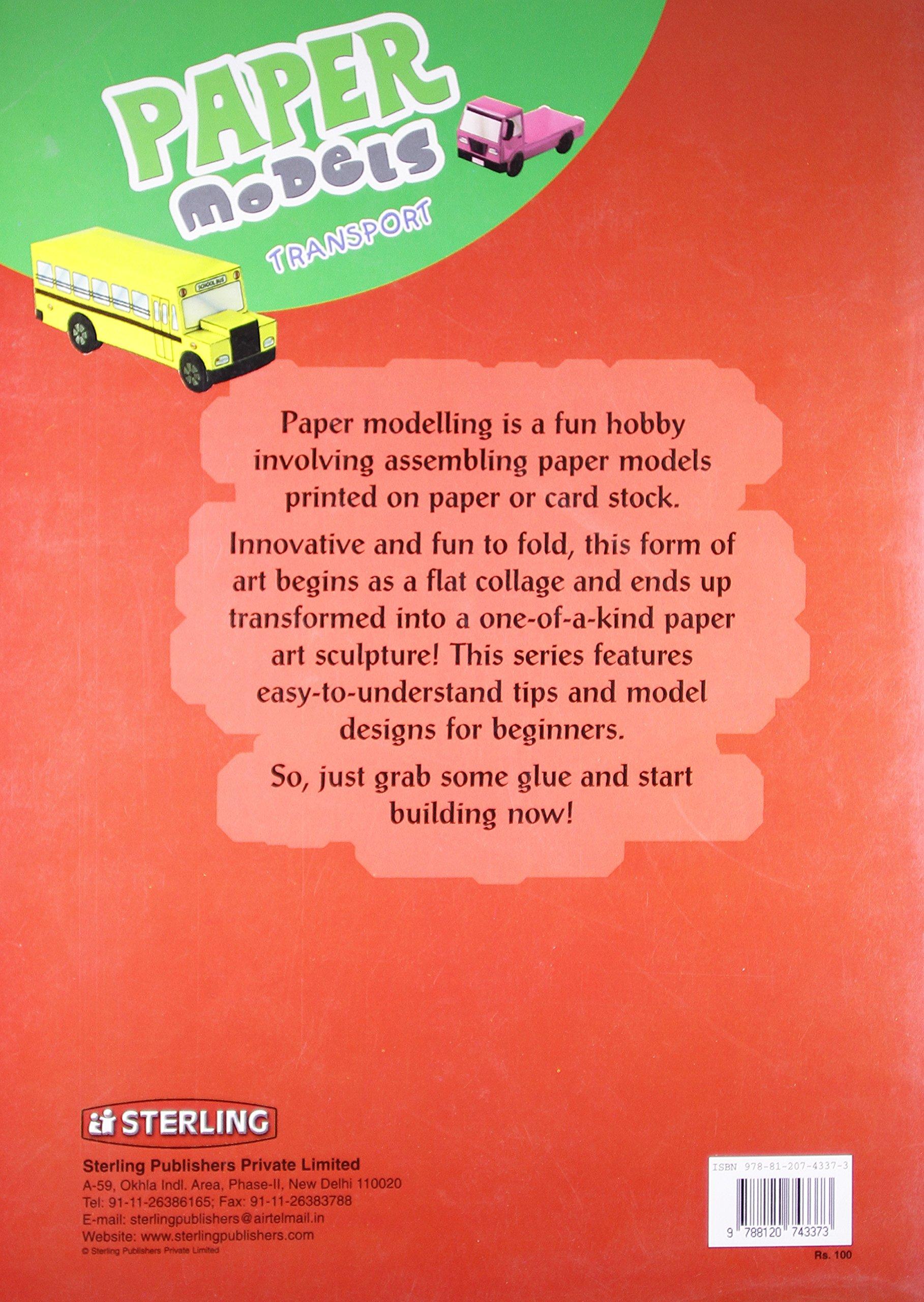 Paper Models: Transport: Sterling: 9788120743373: Amazon com