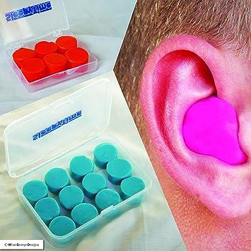 Pack de 6 o 12 tapones de silicona suave para los oídos, con caja ...