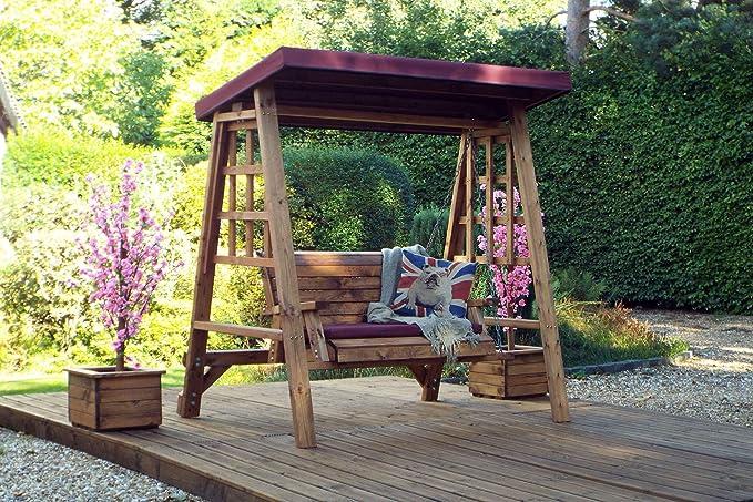 Home Gift Garden - Columpio de Madera para jardín de 2 plazas ...