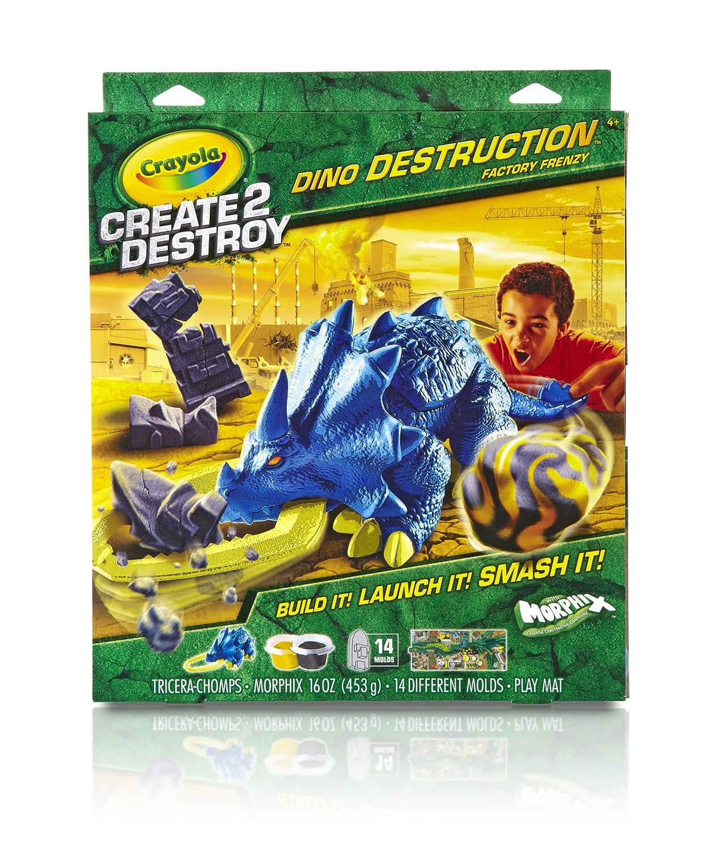 Crayola Create2Destroy Dino Destruction Tricerachomps Kit by Crayola B00FY2P4QE