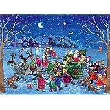 "Sellmer Advent Calendars ""Sleigh in the Night"" Christmas Calendar"
