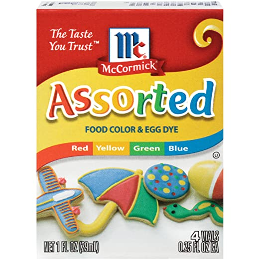 McCormick Assorted Food Color, 1 fl oz: Amazon.com: Grocery ...