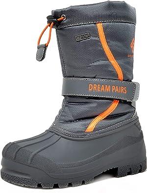 DREAM PAIRS Boys & Girls Mid Calf Waterproof Winter Snow Boots