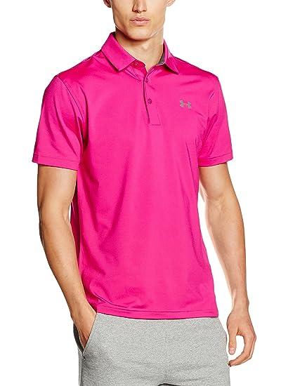 2017 Under Armour Playoff Polo Mens Golf Special Edition Polo Shirt Shock/White Medium 56I5O5