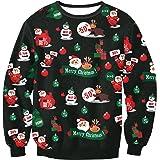Leezeshaw Unisex Christmas Pattern 3D Printed Xmas Casual Street Style Jumper Couples Sweatshirts