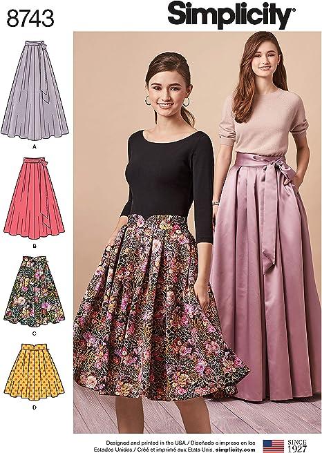 Simplicity Patterns US8743R5 - Patrones de costura para faldas y ...