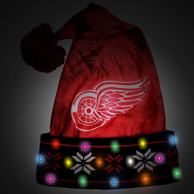 Detroit Red Wings Light Up Santa Hat