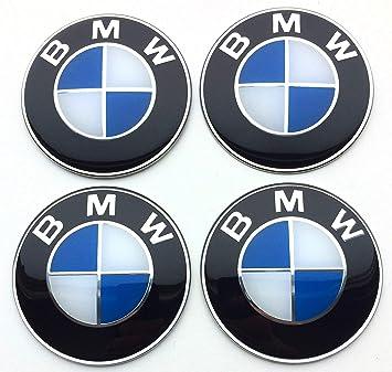 4x 56mm Rad aufkleber embleme passend für Bmw radkappen nabenkappen