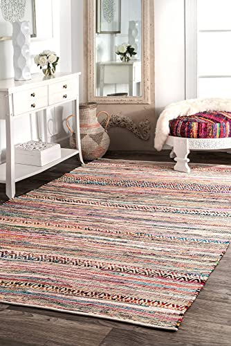 nuLOOM Liana Hand Loomed Area Rug, 7 6 x 9 6 , Multi