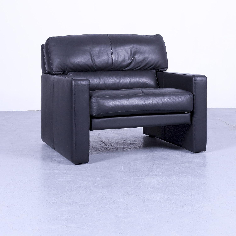 WK Wohnen - Sillón de piel Negro Modern piel # 4639 mínima ...