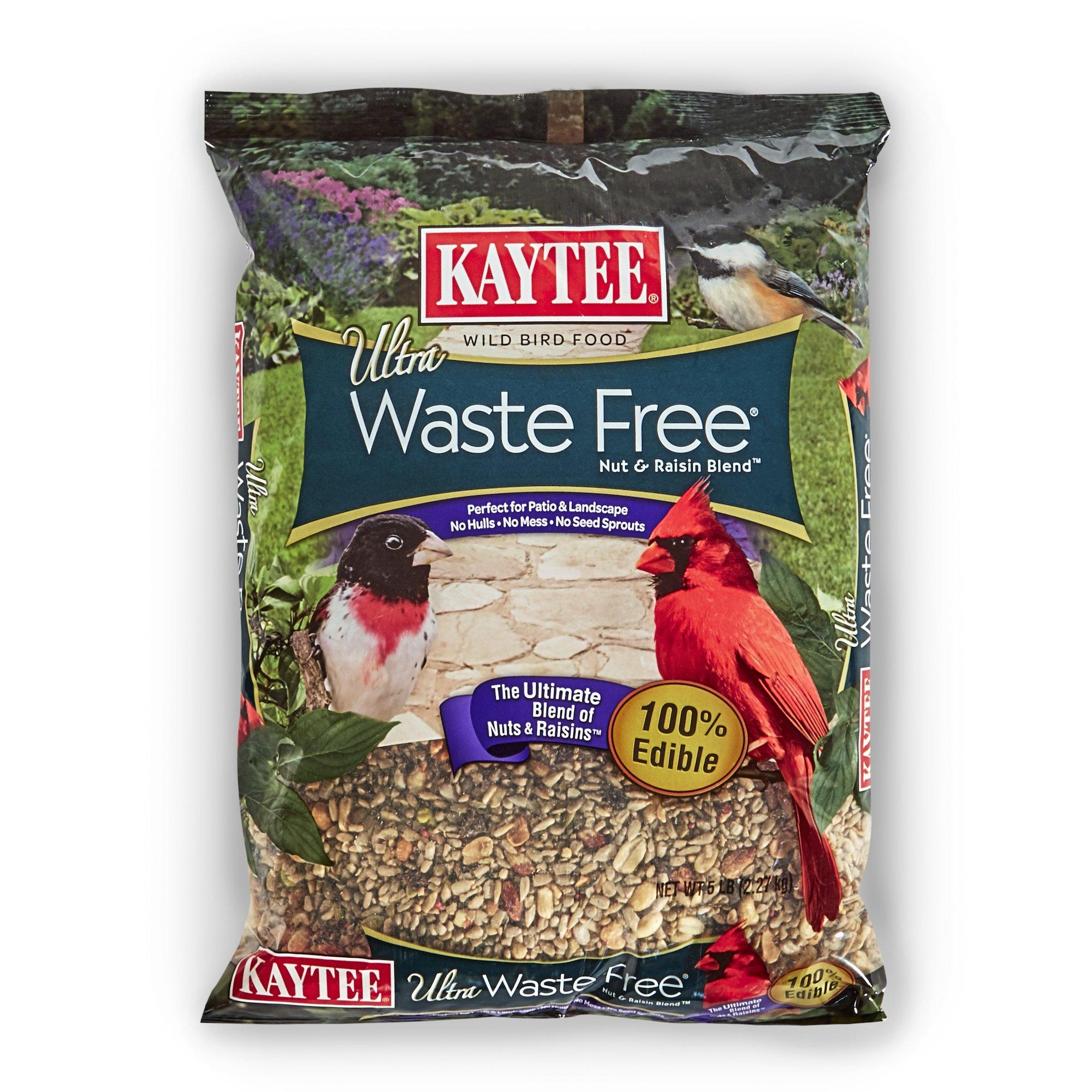 Kaytee Waste Free Nut and Raisin Blend, 5-Pound
