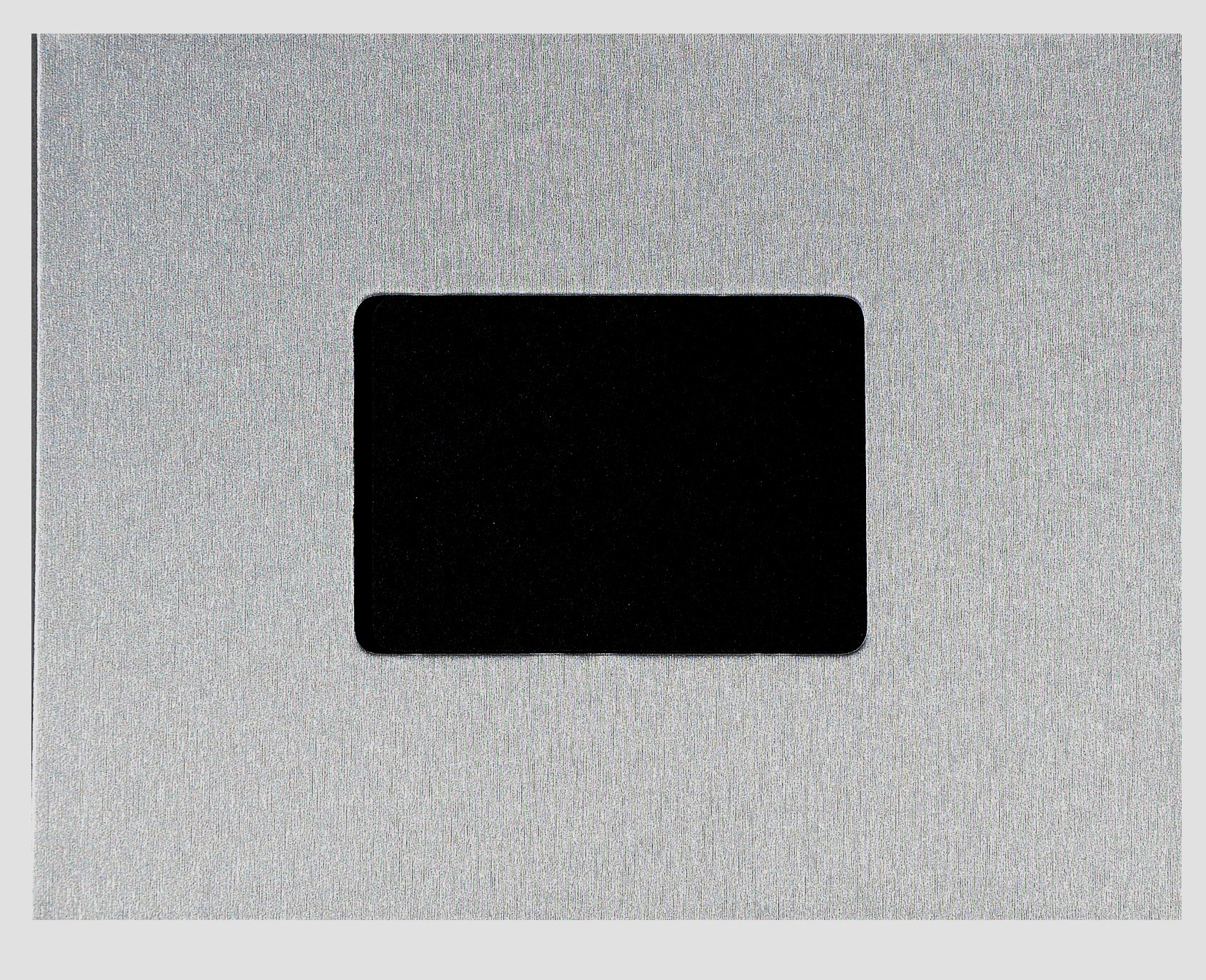 """Unibind 259FD8AA5DH 5mm Silver Brushed Steel 8.5"""" x 11"""" Photobook - 10 Pack"""