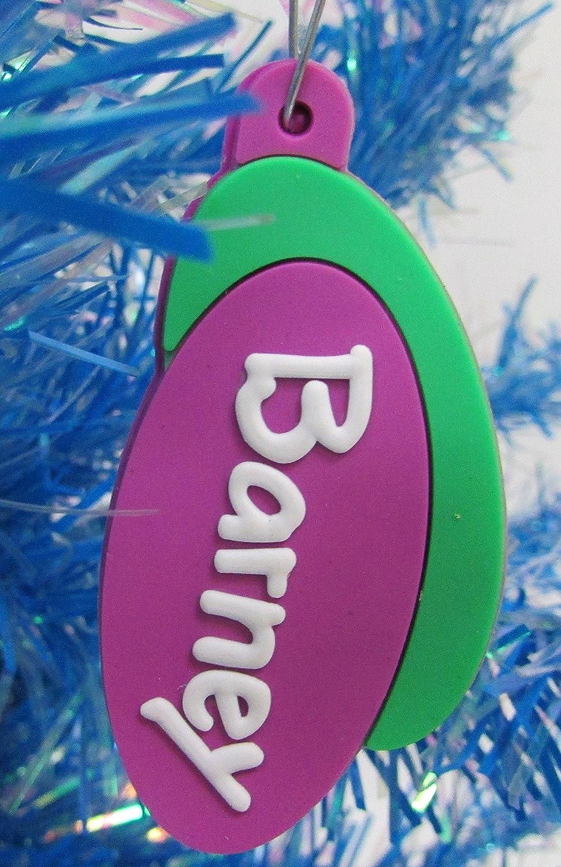 Amazon.com: Barney and Friends Unique Christmas Tree Ornament Set ...